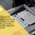 All immigration permits are valid for 1 more extra year